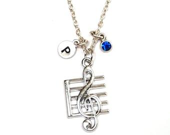 Sheet Music Necklace, Sheet Music Charm, Sheet Music Pendant, Sheet Music Jewelry, Music Note Necklace, Music Note Charm, Music Necklace
