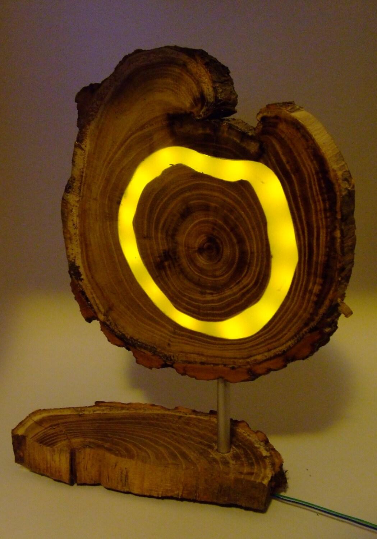 h lzerne led ringe lampe gelbe leds verwendet in epoxy. Black Bedroom Furniture Sets. Home Design Ideas