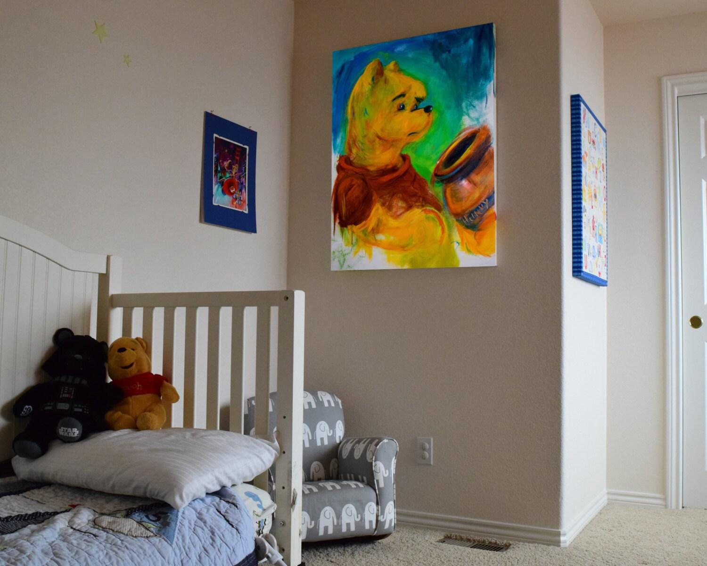 winnie the pooh pooh poohbear pop art nursery wall. Black Bedroom Furniture Sets. Home Design Ideas