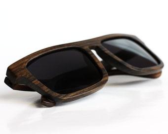 Polarized Wood Sunglasses from Ebony by WOODEER