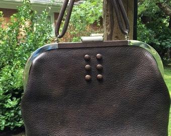 Vintage handbag Saber Bronze/Brown