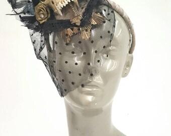 Coyote skull fascinator by: fancy VANDALS - Halloween - costume - headpiece - Burning man -festival fashion -