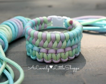 Beautiful Hand Dyed Paracord Bracelet - Tie Dye - Fishtail or Cobra Weave - Survival Bracelet - Kids Bracelet - Tie-Dyed Rainbow