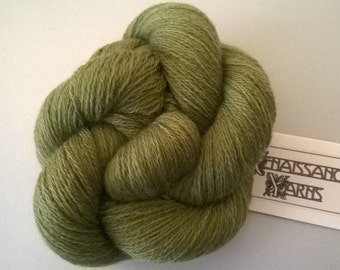 Recycled Merino Wool Yarn, Reclaimed 2-ply Lace Weight Yarn, 3,800 yds, 243 grams @ 0.01/yd