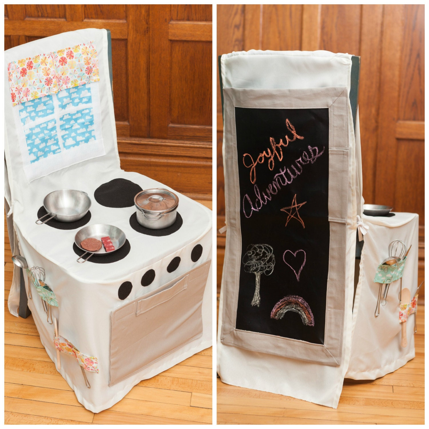 Play Kitchen Kitchen Set Chair Cover Kitchen By Joyfuladventures