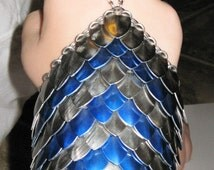 Scalemail and Chainmaille Handflower (slave bracelet)