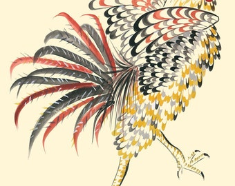 """GICLEE PRINT OF """"Rooster on a MIssion"""""""