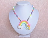 Kawaii Fairy Kei Rainbow Necklace