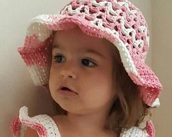 Valeries Summer Sun Hat Infant - Child Crochet Pattern *PDF DOWNLOAD ONLY* Instant Download