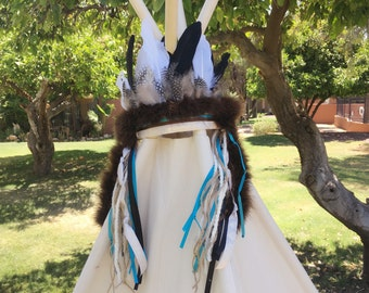 Kids Indian headdress-teepee topper