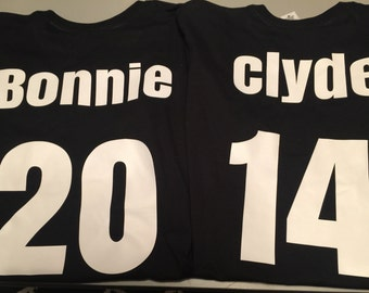 Bonnie and Clyde couples shirts