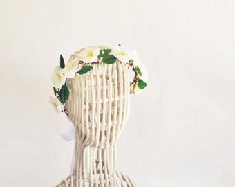 Boho Bridal Floral Crown Wedding Flower Crown Floral Headpiece Head Wreath Floral Head Piece Whimsical Woodland Bohemian Wedding Headband