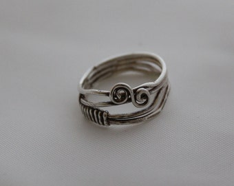 sterling silver wire wrap ring,