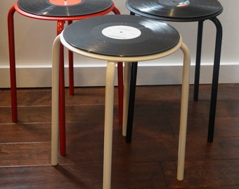 Vinyl Record Table/Stool