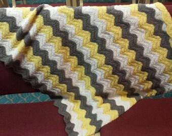 Chevron Ripple Baby Blanket