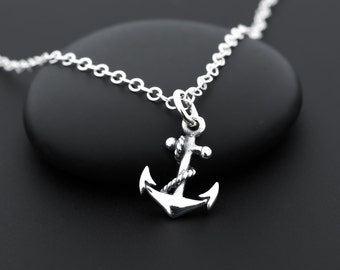 Sterling Silver Anchor Necklace, Tiny Anchor Necklace, Anchor Charm Necklace, Nautical Necklace, Small Anchor Necklace, Anchor Jewelry