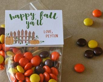 Fall Printable - Happy Fall Ya'll- Treat Bag Topper