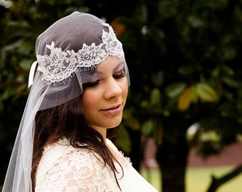 Bridal Lace Cap Veil