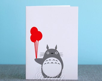 Genefy prints on etsy seller reviews marketplace rating studio ghibli my neighbor totoro card silhouette paper cut out birthday invitation cards bookmarktalkfo Choice Image