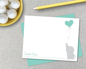 Personalized Stationery / Personalized Stationary / Custom Note Cards / Baby Elephant Personalized Stationary / Baby Shower Thank You Cards