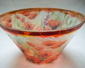 Original Poppy Bowl with Copperleaf