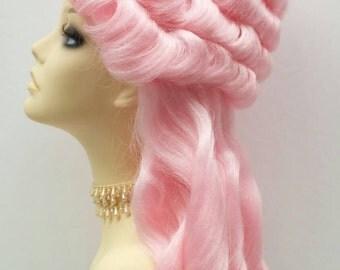 Alternative Pink Marie Antoinette Costume Wig. Colonial Style Wig. [19-126-Marie-LPink]
