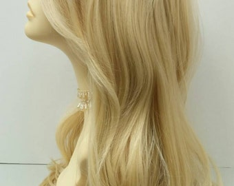 Long 23 inch Blonde 613 Straight Wig. Heat Resistant Wig. Boho Wig. [50-268-Emily-613]
