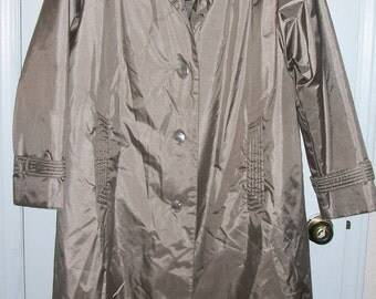 SALE Womens Vintage Chianga Bronze Trench Coat Jacket Removable Lining 12