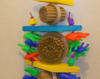 Totem Pole, Medium Bird Toy, Shredable Bird Toy