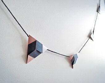 Triangle Garland. Blush/Charcoal