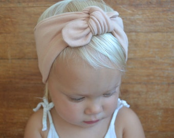Baby Girl Headbands - Blush Knot Headband - Newborn Headband - Baby Headbands