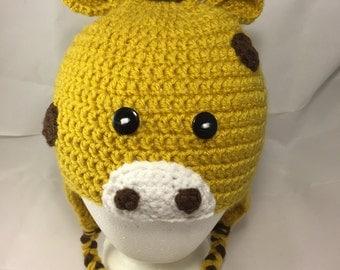 Giraffe Hat, Crochet giraffe hat, Newborn Baby Giraffe Hat, Adult Giraffe Hat, Safari Hat