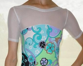 Add Short Sleeves to custom leotard - ballet leotard by Yukitard