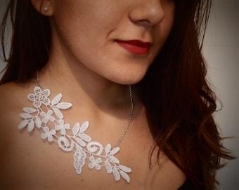 White Venice Lace Necklace