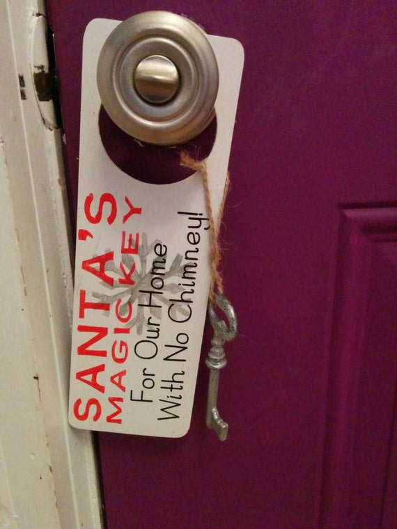 Santa's Magic Key, Christmas, Door Hanger, Santa's Key, Door Decor, Holiday Door Decor, Christmas Decor, Christmas Eve, Kid's Christmas