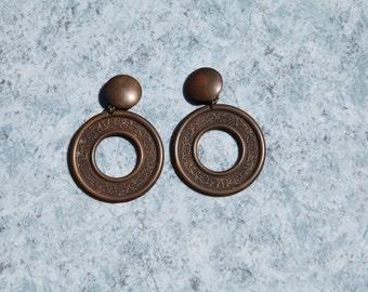 Vintage boho chic geometric earrings.