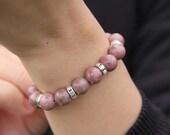 Healing Crystal Bracelet / Rhodonite Bracelet / Inspiration Bracelet / Gemstone Bracelet / Reiki Stone