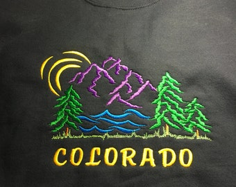 Embroidered Sweatshirts, Colorado, Gifts