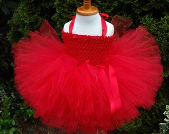 Red Tutu Dress, Red Tutu, Baby Tutu, Birthday Dress, Tutu, Newborn Tutu, Christmas Tutu, Infant Tutu, Toddler Valentine Tutu, Red Dress