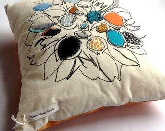 Beaded/Applique, Acid Attacks Cushion