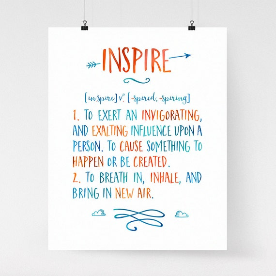 Inspire Definition Art Modern Inspirational Wall Art