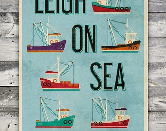 Leigh-on-Sea - Fishing Trawler A2 Poster