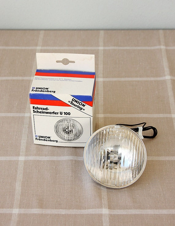 Vintage Bike Light New old stock Unused German Bicycle lamp Union Bicycle accessories Retro bike accessories Bicycle light headlamp