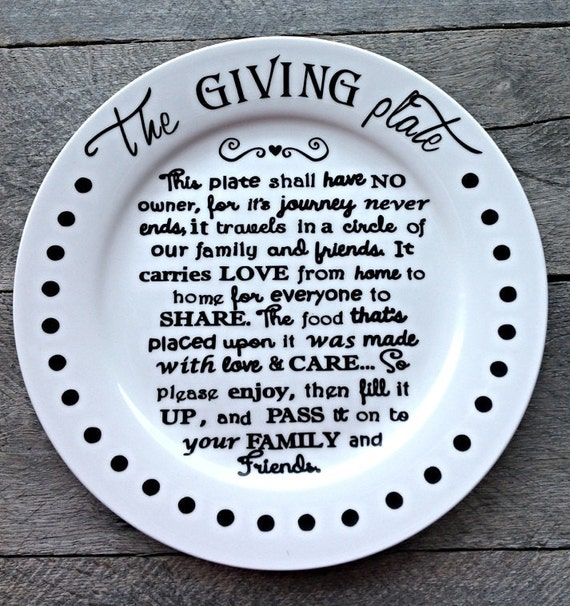 The Giving Plate Neighbor Gift Plate By Ajssoutherndesigns