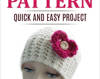 Crochet PATTERN Beanie Hat, Quick and Easy, Instant Download