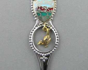 Badlands Road Runner Dangling Charm SOUTH DAKOTA Collectible Souvenir SPOON