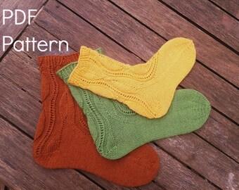 Abscission Sock, a PDF Knitting Pattern by Theresa Shingler