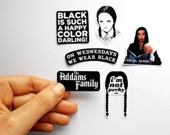 Adams Family 1991 Stickers fan (pack of 6)