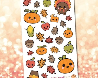 Autumn / Fall / Thanksgiving / Harvest Theme Planner Stickers