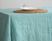 Linen tablecloth. Stone washed linen....